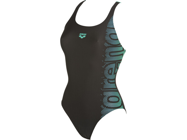 arena Sitar Swim Pro Traje de baño de una pieza Mujer, black-bali green